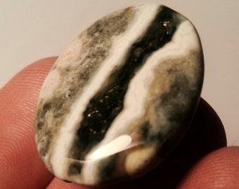 CLEARANCE Druzy Pendant Bead Ocean Jasper Natural Stone Forest Green Oval Bead, Geode Bead