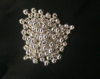 Silver toned 6mm plated beads. 1000 beads.