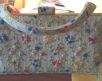 Vintage Nicholas Reich Embroidered Purse