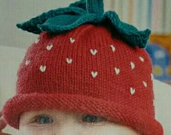Strawberry fruit hat 6-12 months