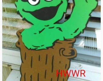 """Eight 3"""" inch Oscar the Grouch Die Cut. Sesame Street."""