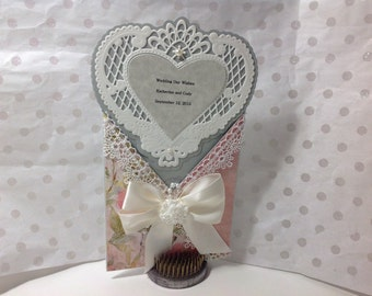 Wedding Day Wishes -Heart shaped card