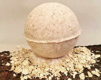 Oatmeal and Milk Bath Bomb Dry Skin Relief Bath Bomb Healing Bath Bomb Skin Soothing Bath Bomb