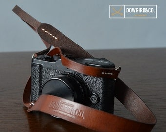 vintage style, minimalist camera strap for mirrorless and film cameras - Sony, Fuji, Leica, Nikon, Canon