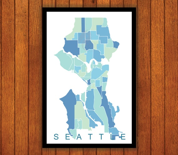 Find the Perfect Christmas Gift for your BFF; Seattle Map