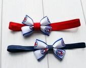 Toronto Blue Jays Headband | Blue Jays Headband | Blue Jays Bow Headband | Jays Headband | Jays Bow