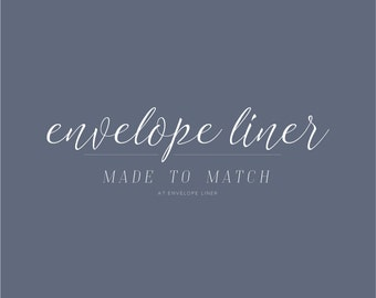 Envelope Liner Printable Made To Match Any Design   Envelope Liner Add-On