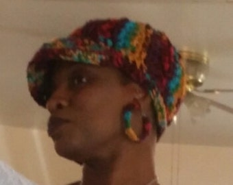 Ladies cap with matching earrings