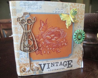 Vintage Clockwork Scrapbook mini album