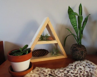 Geometric triangle shelf // mid-century modern