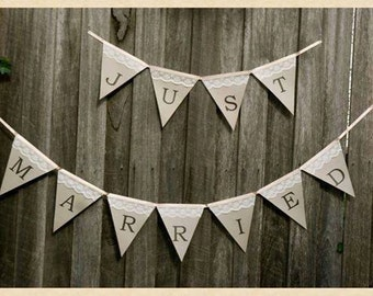 """Just Married Bunting """"Ginger"""""""