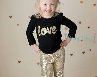 glitter leggings {gold}