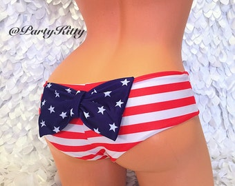 Stars Stripes Patriotic USA Flag Bikinis. UjENA Stars & Stripes, Patriotic and USA Flag Bikinis.