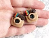 Instagram Inspired Polymer Clay Charm   Cute Clay Charm