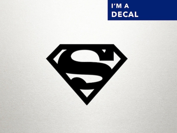 Superman vinyl decal superman decal wall by dungeonsanddecals for Superman wall decal