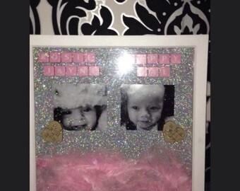 Scrabble frames baby boy girl