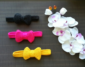 Hand knit bow tie Etsy
