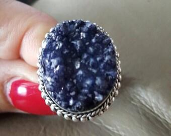 Druzy Ring-size 8.75!
