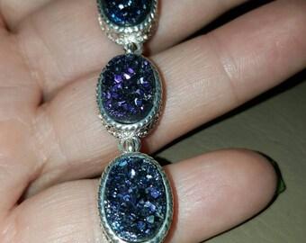 Titanium Druzy  Bracelet- 8 inches!