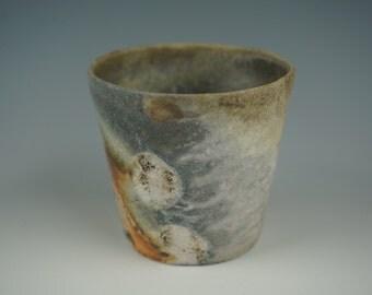 Yunomi - Tea Cup - Anagama Wood Fired - Raw Ash Glaze