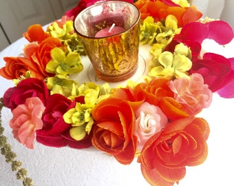 Flower Arrangment Candle/Jewelry Cup