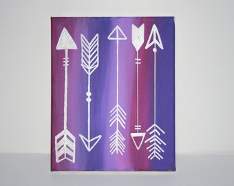 Purple Arrows Canvas
