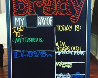 First/Last Day of SchoolBoard - Boy