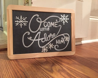 Christmas Chalk and Wooden Signs