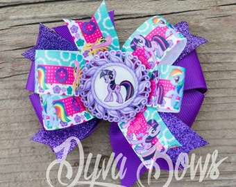 My little pony bow - my little pony hairbow - my little pony hair bow - my little pony party -