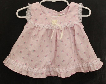 Sweet roses and lace baby girls dress