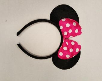 Pink Minnie Mouse Headband
