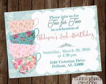Tea for Two Invitation
