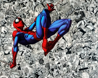 Spiderman Giclee on Canvas