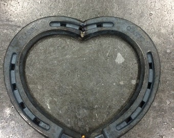 "Heart Made Of Horseshoes /valentine / ""home sweet home"""