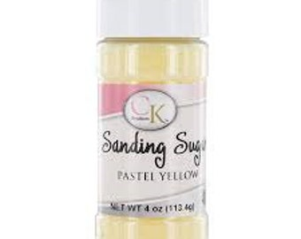 Sanding Sugar Pastel Yellow- 4 Oz