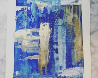 Little Boy Blue, Original Fine Art, Acrylic with Pallet Knife