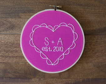 Anniversary Embroidery Hoop