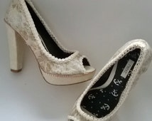 Customised Wedding Shoes,prom queen shoes, princess shoes, cinderella shoes, bridal gift, wedding gift, unusual shoes, unique shoes