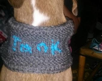 Custom dog cowl scarf