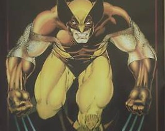 Wolverine 23x35 Marvel Comics Poster 1989 X-Men