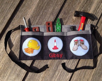 Kids personalised tool belt with tools