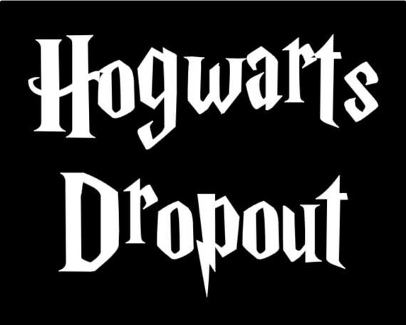 Hogwarts dropout decal vinyl sticker vinyl by mymyvinylcreations - Hogwarts decal ...