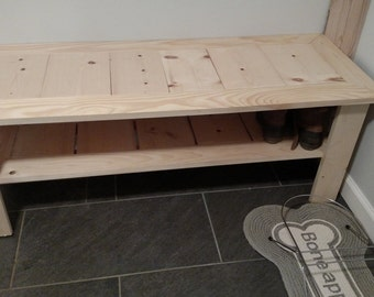Pine Shoe bench or Coffee table