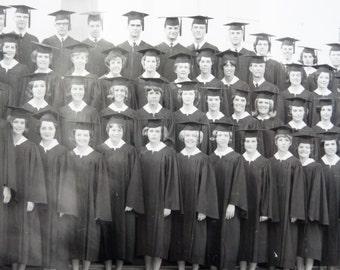 1967 - Old Belhaven College - Belhaven University - Black & White Graduation Photograph , Jackson Mississippi