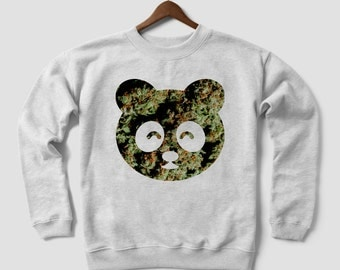 PANDA Stalin Marijuana Weed Leaf addicted kush pot leaf cannabis Hooded sweatshirt HOODIE