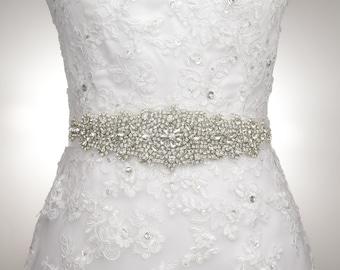 Crystal Sash Belt Wedding Dress Belt Bridal Bridesmaid Flower Girl Dress Sash Belt Rhinestone Wedding Sash S110