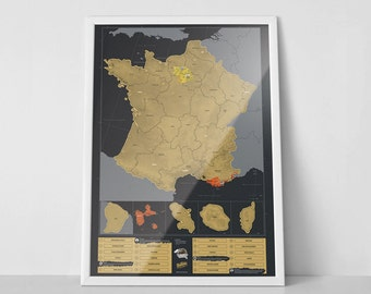 Scratch Map ® France Poster