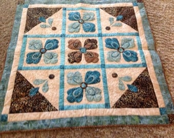 Quilted  Hand Appliqued Table Mat