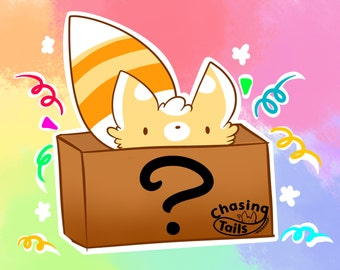 FREE SHIPPING Mystery Box of Fluffy Fursuit Tail and Fluffy Furry Goodness Surprise Pack