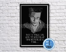 Fight Club Tyler Durden quote print, Fight Club poster.